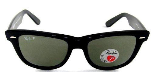 New Ray Ban RB2140 901/58 Wayfarer Black Frame Green Lens 54mm Polarized - 54 Wayfarer 901 Rb2140