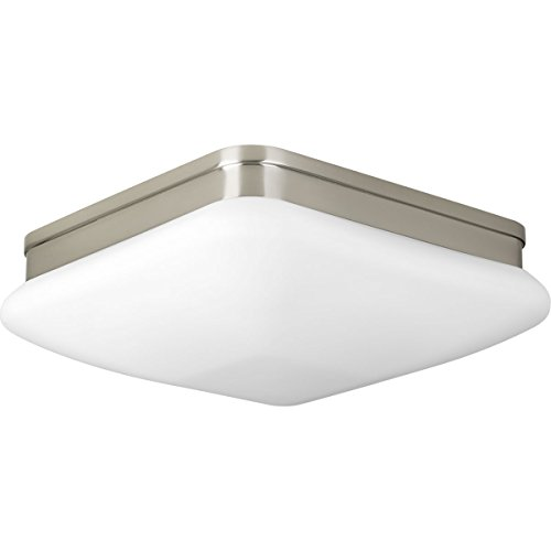 (Progress Lighting P3511-09 2 LT Flush Mount Fixtures with Etched Opal Glass, 11