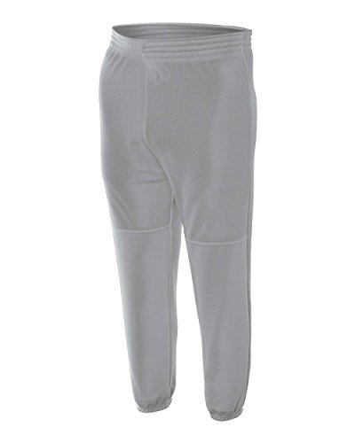 Grey Youth XL Baseball Pants Elastic Waistband Pull-on A4 Youth Baseball Pant