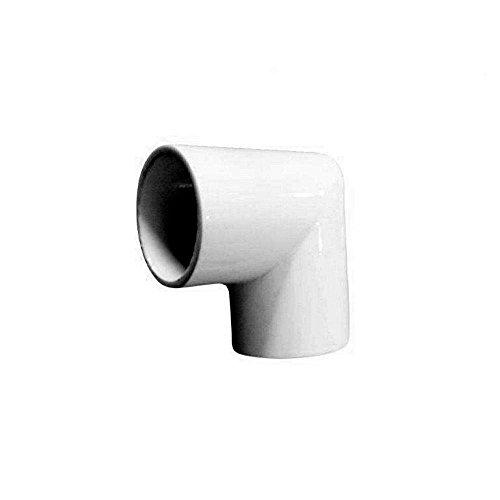 EZ Handrail 1.9 in. Aluminum Round ADA Handrail White 90 Degree Miter Elbow (Handrail Aluminum Ez)