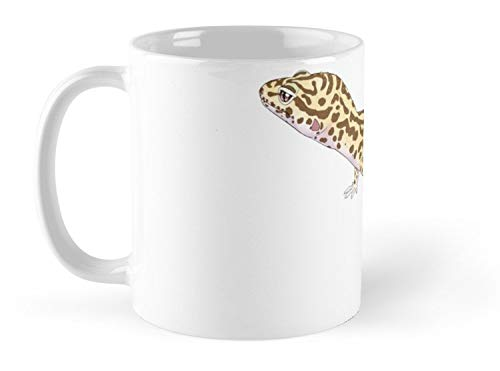 - Blade South Mug Bell Albino Leopard Gecko Mug - 11oz Mug - Dishwasher safe - Made from Ceramic - Best gift for family friends