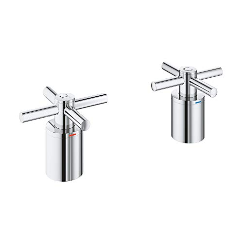 GROHE 18033003 Atrio Roman Bathtub Faucet Cross Handle, Starlight ()