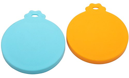 Can Covers,Set of 2 Dog Cat Food Can Cover, BPA Free Silicone Pet Can Cover For Multiple Sizes Dishwasher Safe Can Food Lids