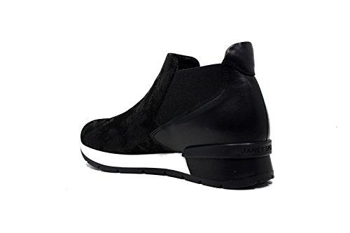 Janet Sport sneakers donna con tacco basso 38801 polacco diablo/asterix nero/nero f 265 nuova collezione autunno inverno 2016 2017 nuova collezione autunno inverno 2016 2017