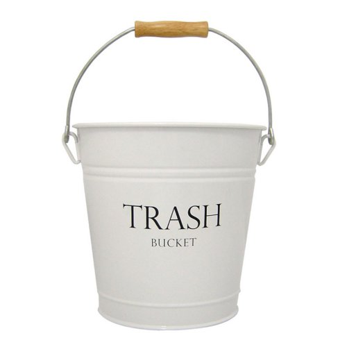 InterDesign Pail Wastebasket Trash Can, (Country Tissue Dispenser)