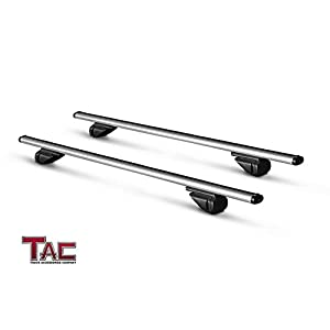 "TAC TRUCK ACCESSORIES COMPANY TAC Roof Rack Cross Bar Aluminum Locking Roof Top Cargo Rack Anti-Theft Cross Bars (48"" Cross Bars, 1 Pair)"