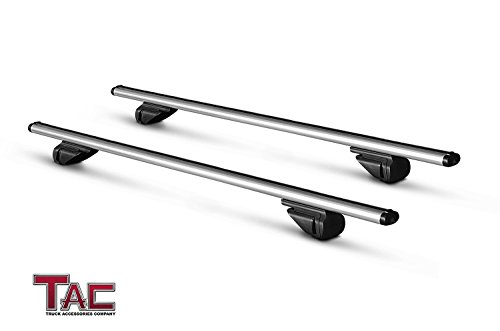 "Rail Roof Crossbars (TAC TRUCK ACCESSORIES COMPANY TAC Roof Rack Cross Bar Aluminum Locking Roof Top Cargo Rack Anti-Theft Cross Bars (48"" Cross Bars, 1 Pair))"