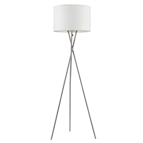 Euro Style Collection Lisboa Tripod Metal Body Modern Floor Lamp, White by Euro Style Collection