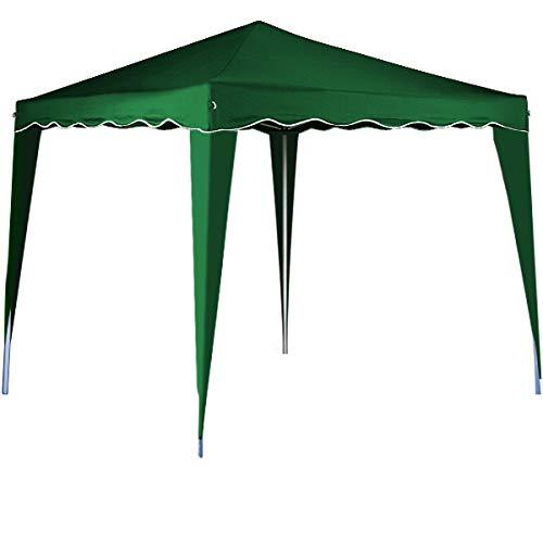 cucunu Canopy Instant Gazebo Pop Up Tent 10 x 10 Shelter with Metal Frame for Outdoor Patio Garden Waterproof 10x10 - Green Gazebo Party Garden
