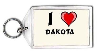 Shopzeus Llavero con Estampado de Te Quiero Dakota (Nombre ...