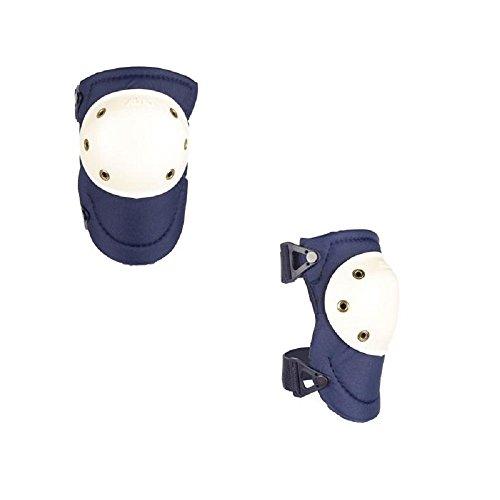 ALTA 50903 AltaPRO Knee Protector Pads, Navy Cordura Nylon Fabric, AltaLOK Fastening, Hard Cap, Round, White
