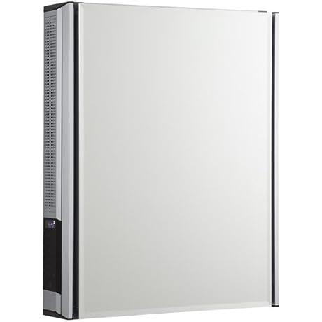 KOHLER K CB CLC2026FSA Aluminum Single Door Medicine Cabinet With Mirrored Door And StereoStik