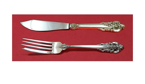 Grande Baroque by Wallace Sterling Silver Individual Fish Set 2pc Custom Made