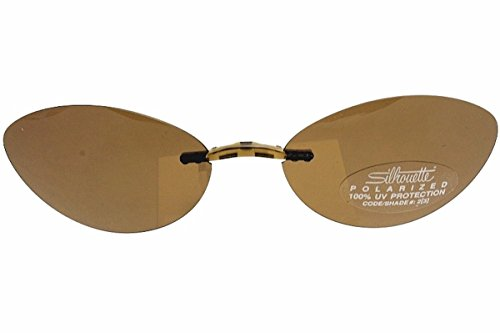 SILHOUETTE TMA The Must Collection 5065 Brown Polarized Clip On Shape:6683 - Silhouette Sunglasses Eyewear Clip On
