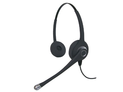 (Smith Corona Classic Ultra Binaural Headset w/NT bottom cord - GN Netcom/Jabra QD Compatible)