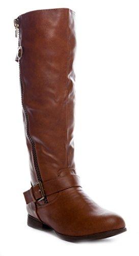 Charles Albert Women's Low-Heel Knee-High Riding Boot in Cognac Size: (Sale Boots)