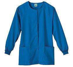 Faced Cuff (White Swan Solid Knit Cuff Warm-up Scrub Top (Royal Blue Medium))