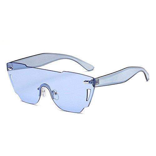 Mar De Mujer Gafas De azul Huecos De Gafas Corte De Sol Rosa De Poligonal Gafas Sol JUNHONGZHANG Pc HgSxqUOPP