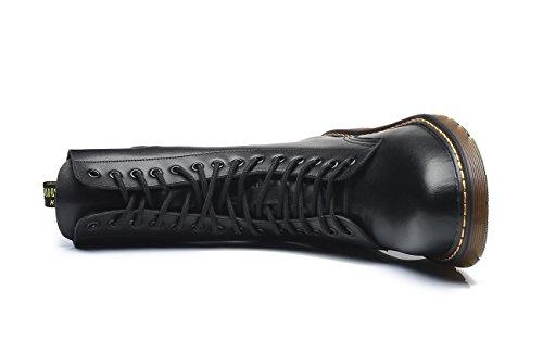 Lacets Noir Genou Chaussures Sous Femme À Martin Bottes Classiques Unisexe Bottines Ubeauty Sport Boots Flattie 6OwPP
