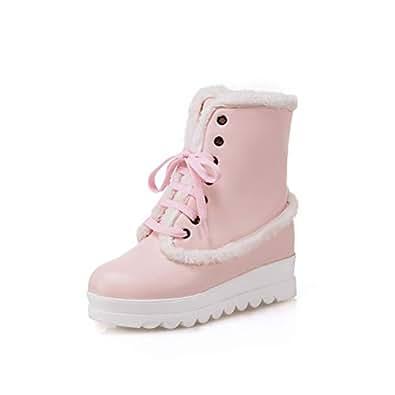 Amazon.com   LVYING Platform lace up Shoes Woman Winter