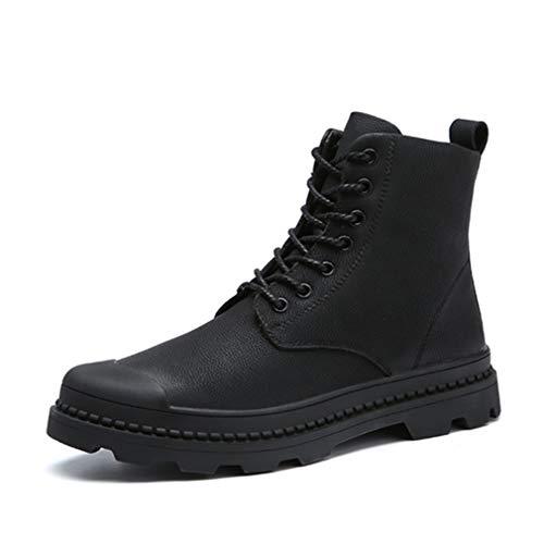 ショートブーツ メンズ マーティンブーツ マーチンシューズ デザートブーツ ブラック 黒 大きいサイズ ワークブーツ クライミングシューズ レースアップブーツ 春 秋冬 防水 防滑 歩きやすい 革靴