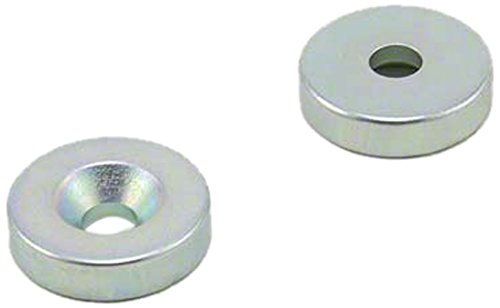 Magnet Expert® 20mm dia x 5mm thick x 5.2mm c/s Zinc Plated N42 Neodymium Magnet - 8.3kg Pull ( South ) ( Pack of 2 ) Magnet Expert® F205S-ZN-2