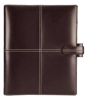 Filofax Classic (Cross) A5 size 6 rings Organiser/Agenda Chocolate Italian colour Italian Leather 424070 paper size :148 x 210mm with Diary 2018