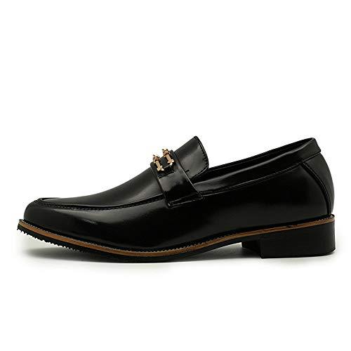 Oxford Negro Calzado Casual Personalidad Eu Tamaño Gold Respirable 41 Negocios Shoes Holgazán Hombre Ofgcfbvxd Foot Button De Antirust Pedal Formal Metal color Plano One XwIgZW4