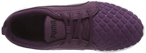 Puma Carson Runner Quilt Wn's - zapatillas de running de material sintético mujer Violeta - Violett (italian plum-black 02)