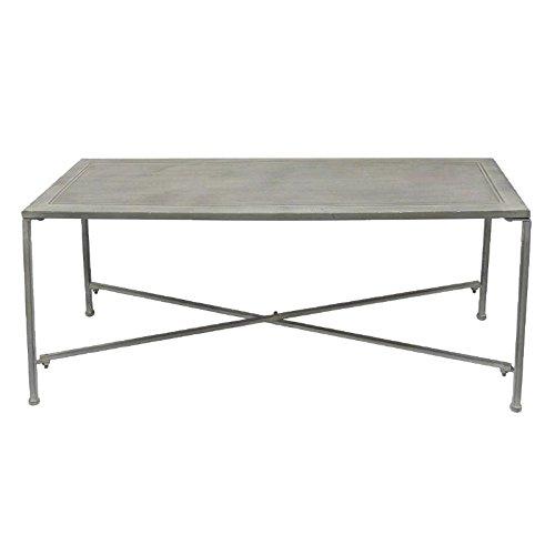 Better & Best 1402111 – Table basse d'appoint avec pieds de fer - couleur gris