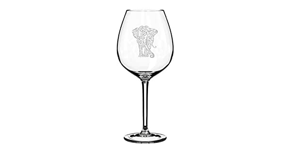Amazon.com: 20 oz Jumbo Copa de vino Tribal de elefante ...