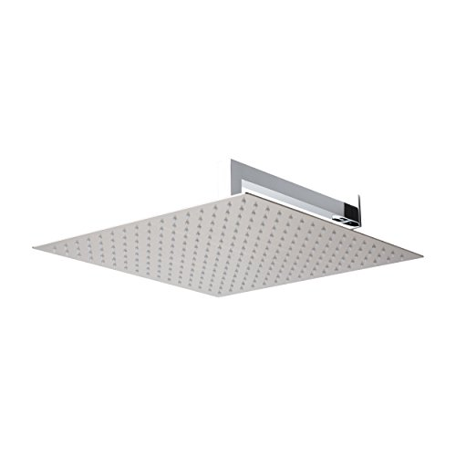 "BAI 0421 Stainless Steel 16"" Square Rainfall Shower Head ..."
