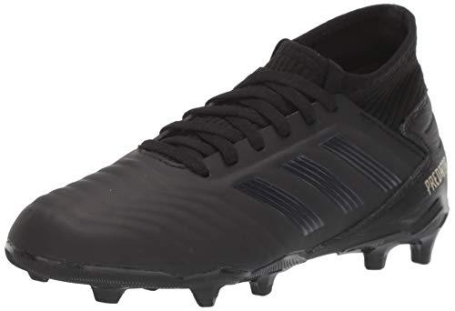 adidas Unisex Predator 19.3 Firm Ground Soccer Shoe, Black/Gold Metallic, 2.5 M US Little Kid