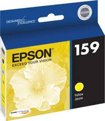 OEM Epson 159 (T159420) Yellow UltraChrome Hi-Gloss 1 Ink Cartridge (Gloss 159)