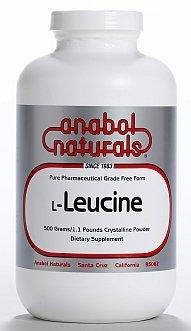 Anabol Naturals L-leucine 1000 grammes Free Form poudre cristalline pure
