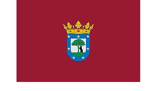 magFlags Bandera Large La Villa de Madrid se compone del Escudo descrito en el titulo I | Bandera Paisaje | 1.35m² | 90x150cm: Amazon.es: Jardín
