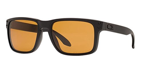 Oakley Mens Holbrook Polarized Matte Black/Bronze, One - Bronze Oakley Lens