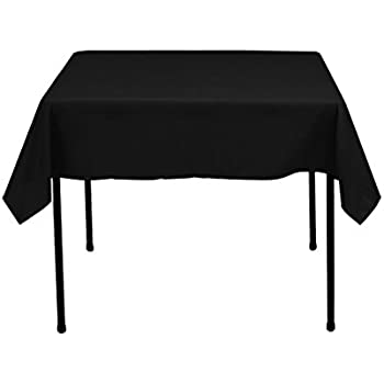 Perfect LinenTablecloth Square Cotton Feel Tablecloth, 52 Inch, Black Part 26
