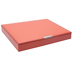 WOLF 300142 Large Stackable Tray with Lid, Coral