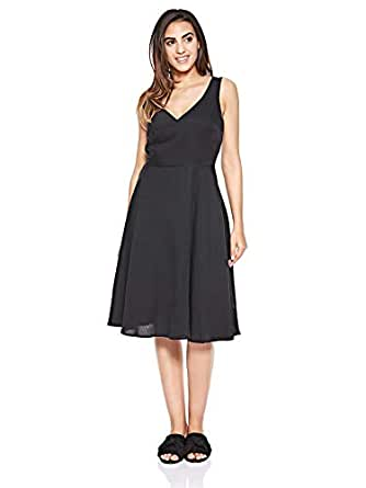Calvin Klein Jeans Tencel Sleeveless Fit And Flare Dress for Women - CK Black L (8719113658771-Blk)