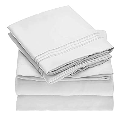 NEWCASTLE Collection - Deluxe Bed Sheet Set - 1800 Brushed 100% Microfiber Bedding - Wrinkle, Fade, Stain Resistant
