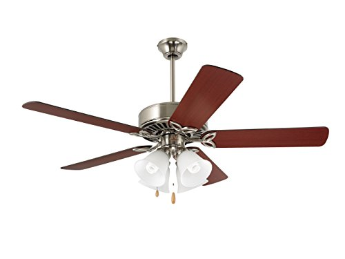 Emerson Ceiling Fans CF711BS Pro Series II Indoor Ceiling Fan With Light, 50-Inch Blades, Brushed Steel Finish