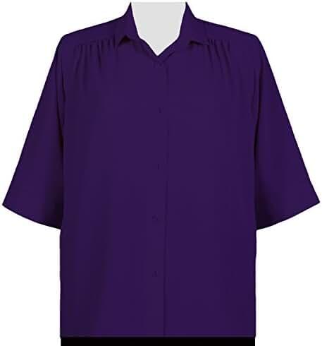 A Personal Touch Purple Peachskin Women's Plus Size Blouse