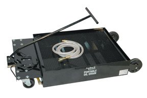 - John Dow Industries LP5 25-Gallon Low-Profile Portable Oil Drain With Electric Evacuation Pump