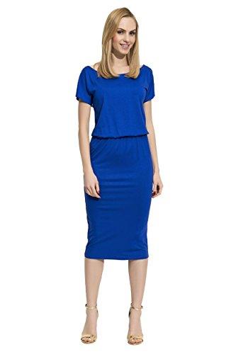 Kleid Knielang Top Sommerkleid in 4 Farben Gr S M L XL 36 38 40 42 ...