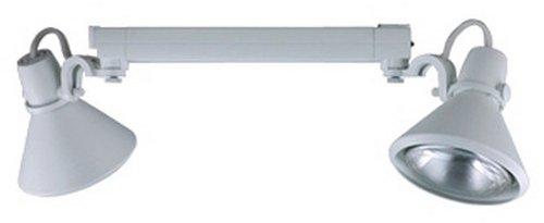 Jesco Lighting HMH904P3870-S Contempo 904 Series Metal Halide Track Light Fixture, PAR38, 70 Watts, Silver Finish