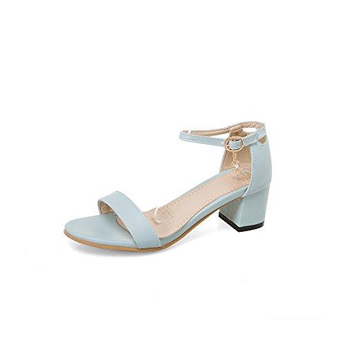 Blocco Sandali Le Caviglia del Blue Talloni amp;X Donne di Toe Peep alla Cinturino QIN qw7ax5