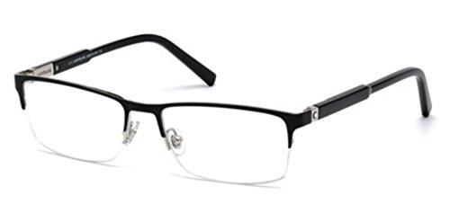 Eyeglasses Montblanc MB 636 MB 0636 001 shiny - Men Blanc Mont For Eyeglasses