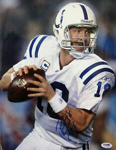 Peyton Manning Autographed Signed Colts Sb 11x14 Photo PSA/DNA - Certified Authentic
