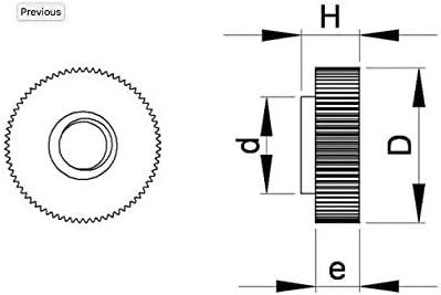 M6 longueur L = 16 mm BLANCO plastic/ó poliamida PA6.6 aislante UMO206-L Tuercas moleteadas en nylon diam 50 unidades Ajile